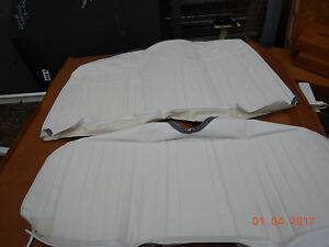 1969 Camaro Rear Seat Covers New Deluxe White Coupe Rs Ss Z 28 Comfort Weave 69