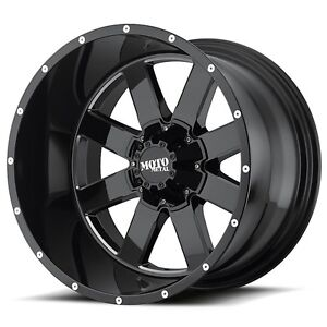 18 Inch Black Wheels Rims Lifted Chevy 2500 3500 Dodge Ram Ford Truck Hummer H2