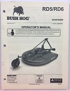 Bush Hog Owners Operators Manual Rd5 Rd6 Rotary Mower To