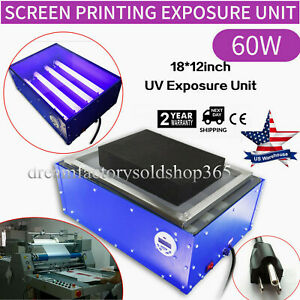 Exposure Unit 18 x 12 Screen Printing Machine Silk Screen Led Light Plate Maker