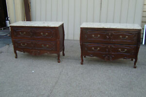 000001 Pair Marble Top Louis Xv Dresser Chest Sideboard S Cabinet S