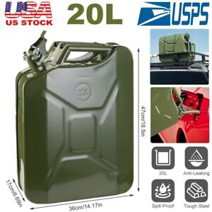 20l Gas Can 5 Gallon Spill Proof Gasoline Fuel Jerry Can Heavy Duty Steel