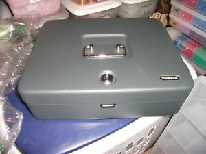 Steelmaster Tiered Tray Cash Box With Key Cash Coins And Storage