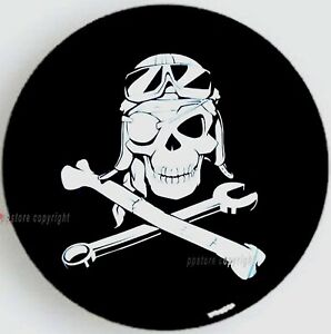 15 Diy Trailer Spare Tire Tyre Wheel Cover Mechanical Skull Pb15mskmc Brand New