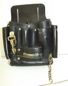 Thomas Betts Electricians Black Leather Tool Bag Pouch