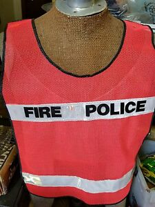 New Sealed Fd Fire Police Orange Reflective Safety Traffic Vest