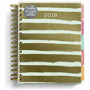 2018 Agenda Planners Planner Gold And Blue Stripes Office Products