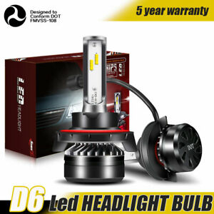 H13 9008 Led Headlight Bulb 60w 12000lm Kit High Low Beam Headlamp 6000k White