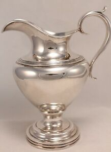 Lincoln And Reed Pure Silver Coin Pitcher Circa 1838 48