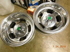 Just Polished 15x8 5 Slot Mag Wheels Ford Dodge Mags Mopar R t Mustang Torino