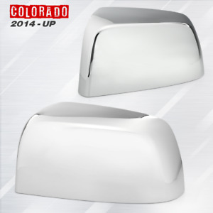 For 2015 2019 Chevy Colorado Chrome Plated Tophalf Mirror Cover Cap Lh Rh Pair