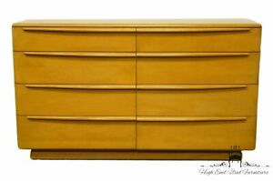 Heywood Wakefield Mid Century Modern 56 Double Dresser W Wheat Finish