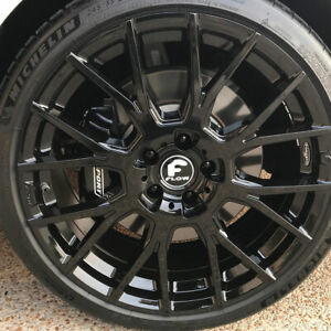 20 Forgiato Flow 001 Black Forged Concave Wheels Rims Fit Lexus Is F