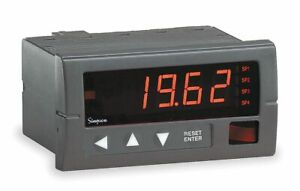 Simpson Electric Digital Panel Meter Process Includes Instructions
