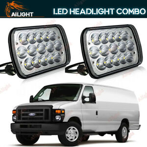 7x5 7x6 Led Headlight For Ford E 150 E 350 Econoline Club Wagon E250 Cargo Van