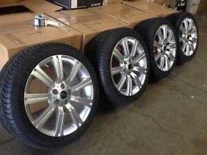 20 Wheels Fit Range Rover Hse Sport Supercharged Tires Silver Stormer Rims Lr3
