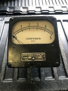 Vtg Weston Electrical Instrument Amperes Dc Antique Industrial Steampunk Nice