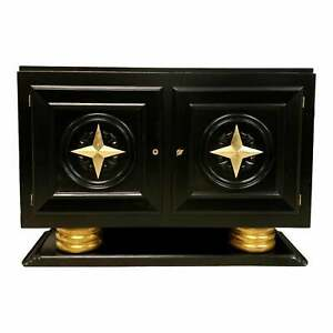 1940s Vintage French Art Deco Sideboard Buffet Bar