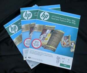 Hp Hewlett Packard Glossy White Trifold Tri fold Printing Paper 231 Sheets