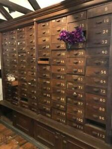Anitique Apothecary Cabinet Huge 112 Drawers From Old Cigar Shop 1800 S