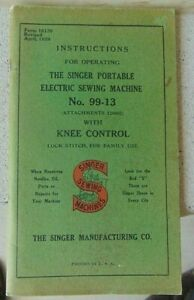 Vintage 1929 Singer Electric Sewing Machine Manual 99 13