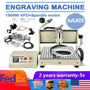 1500w Usb 5 Axis 6040 Cnc Engraver Router Machine 3d Wood Carving Mill Machine