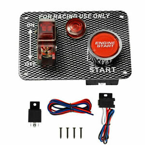 12v Racing Auto Car Led Toggle Ignition Switch Panel Engine Start Push Button