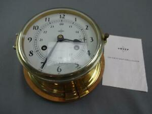Vintage Swift Ships Clock Mariner Bell 8 Day Jeweled West Germany Brass Cased