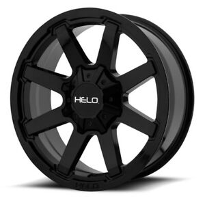 20 Inch Black Wheels Rims Chevy 2500 3500 Dodge Ram Ford Truck 8 Lug Helo He909