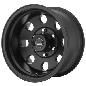 4 american Racing Ar172 Baja 16x8 8x6 5 0mm Satin Black Wheels Rims 16 Inch
