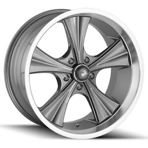 Staggered Ridler 651 Front 20x8 5 rear 20x10 5x127 5x5 0 Gunmetal Wheels Rims