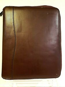Franklin Covey Monarch Binder Planner Brown Simulated Leather Pages Accessories