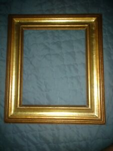 Mexico Carved Wood Gold Gilt Picture Frame Vintage 17 X 14 75 Holds 8 X10