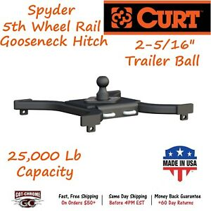 16085 Curt Spyder 5th Wheel Rail Gooseneck Hitch With A Gtw Up To 25 000lb
