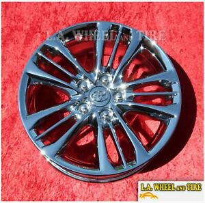 Set Of 4 New Chrome Wheels Oem 17 For Toyota Camry 75171