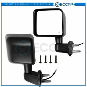 Manual Side Mirrors Pair For 2007 2017 Jeep Wrangler Turn Signal Clearance Light
