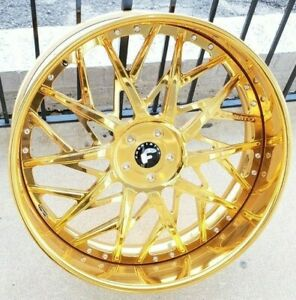 26 Forgiato Blocco Staggered 5x5 Caprice Impala Donk Cadillac 5x127 C10 Buick
