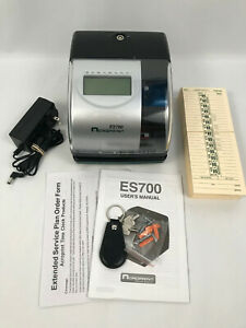 Acroprint Ee700 Time Date Employee Time Recorder Clock Working W Keys Cards