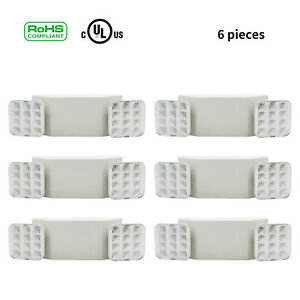 Led Emergency Exit Light Dual Head Hardwired W Battery Back up 1 2 4 6 12 Packs