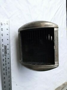 Antique Radiator Heater Core With Chrome Housing And 6 Volt Fan