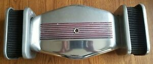Vintage B M Style Low Profile Dual Element Air Cleaner Polished Aluminum