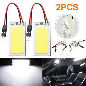 2 X 36 Led Cob Dome Map Light Bulbs Xenon Hid White Car Interior Panel Lamps 12v