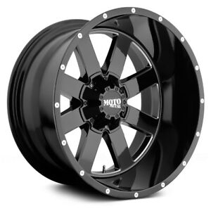 4 Moto Metal 962 20x12 Wheels Lt35x12 50r20 Tires Mounted Chevy Gmc Truck