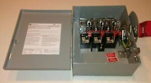Ge Thn3361 30 Amp 600 Volt 3p Non Fusible Indoor Disconnect Switch New