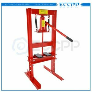 Eccpp Hydraulic Shop Press 6 Ton Bench Top Mount With Plates H Frame Jack Stand
