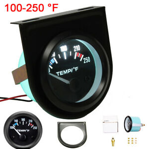 Universal Car Auto 2 52mm Digital Led Water Temp Temperature Gauge Kit 100 250