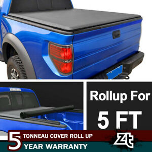 Premium Soft Roll Up Tonneau Cover For 2015 2018 Nissan Frontier 5ft 60 Bed