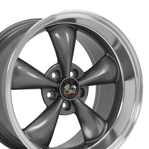 18x9 18x10 Anthracite Bullitt Wheels Set Of 4 Rims Fit Mustang Gt 94 04 Oew
