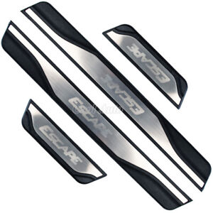 For Ford Escape Accessories Stainless Car Door Sill Kick Scuff Plate Protectors