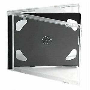 10 Standard 10 4 Mm Jewel Case Double Cd Dvd Disc Storage Assembled Black Tray